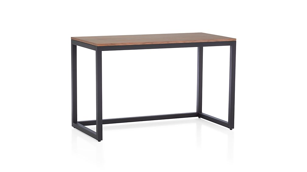 Finn Walnut Top Desk With Black Base In Desks Crate And