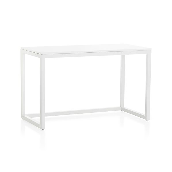 Finn White Top Desk with Salt Base