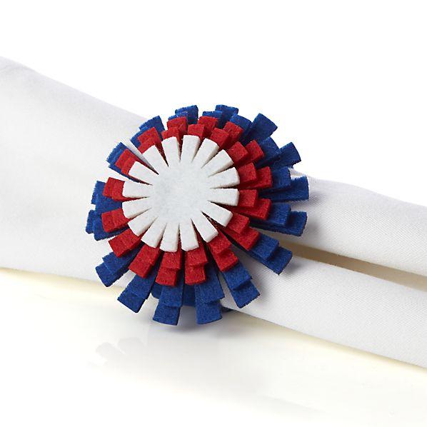 Fireworks Napkin Ring