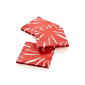 Fireworks Beverage Napkins Set of 20