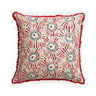 "Fireworks 18"" Pillow with Feather-Down Insert."