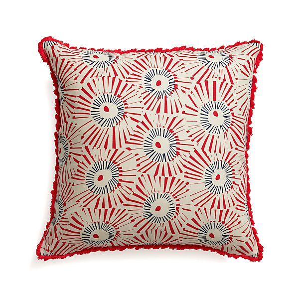 Fireworks Pillow with Feather-Down Insert
