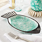 Fish Green Serving Bowl.