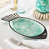 Fish Green Serve Bowl