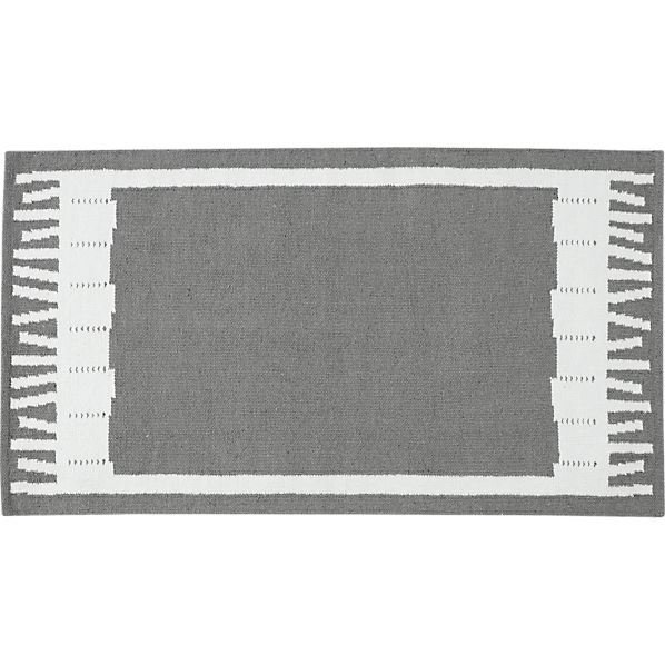 "Fish Grey Indoor-Outdoor 30""x50"" Rug"