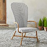 Fish High Back Woven Arm Chair