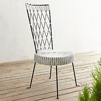 Fish High Back Harlequin Chair White Seat Black Back