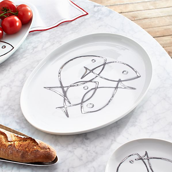 Fish Sketch Platters
