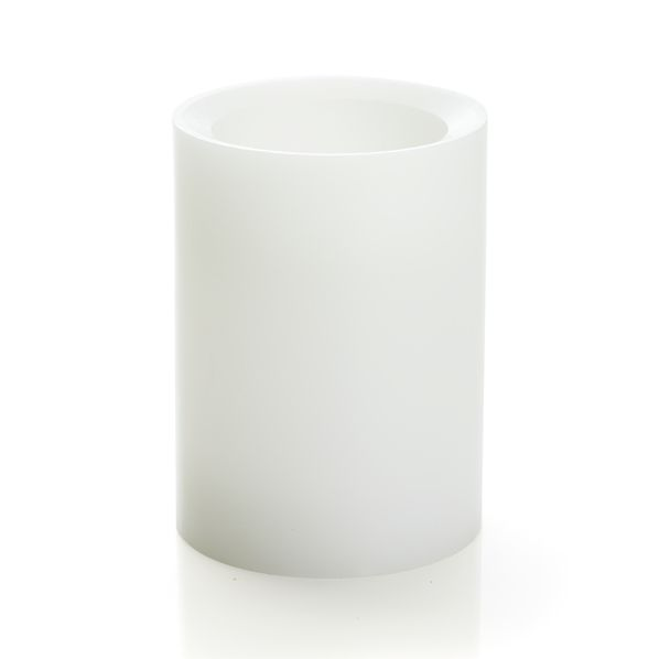 "Flameless White 3""x4"" Pillar with Timer"