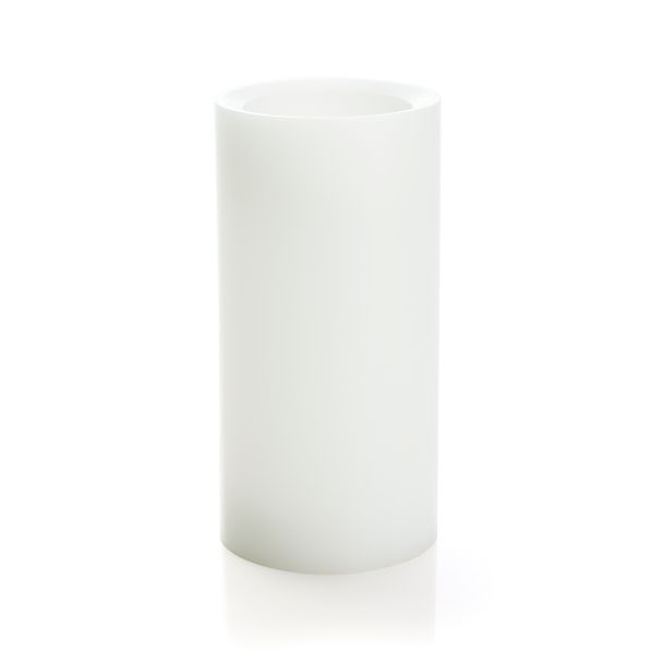 "Flameless White 3""x6"" Pillar with Timer"