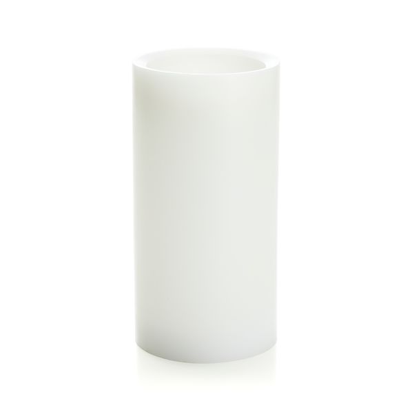 "Flameless White 4""x8"" Pillar with Timer"