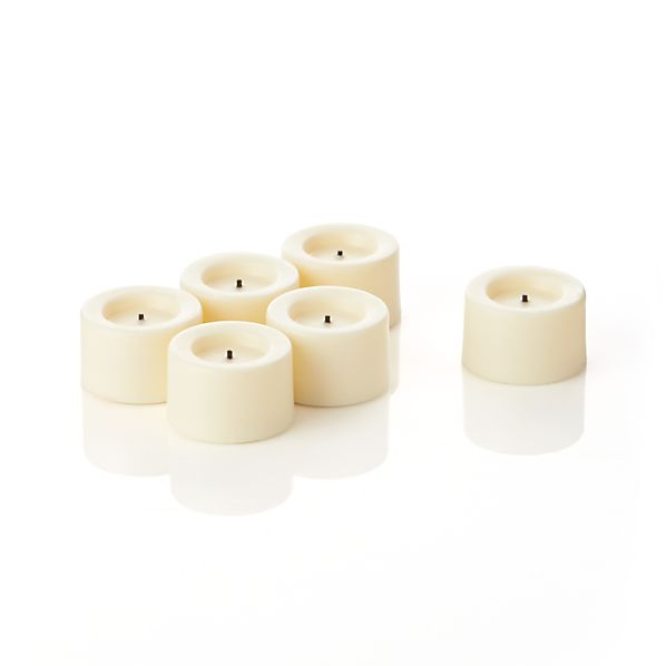 Flameless Ivory Tealights Set of Six