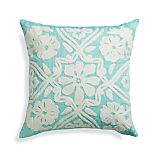 "Fleur 18"" Pillow with Feather-Down Insert"
