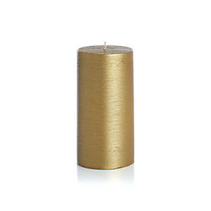 "Flicker Gold 3""x6"" Pillar Candle"