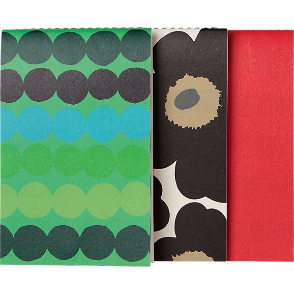 Set of 3 Marimekko Flip Notepads