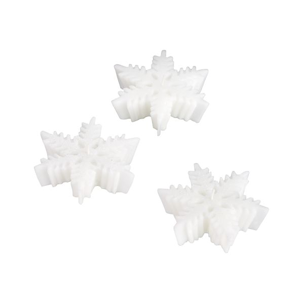 Set of 3 Floating Snowflake Candles