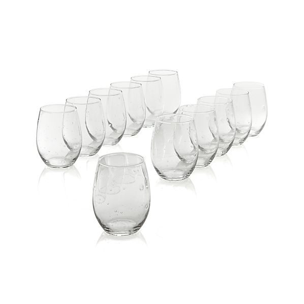Set of 12 Flock Stemless Wine Glasses