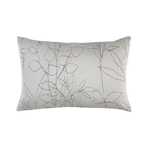 Floral Etching Dove 18x12 Pillow