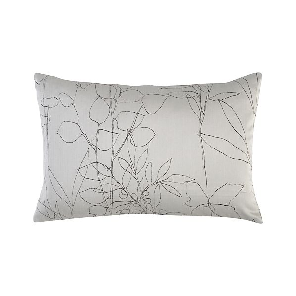 "Floral Etching Dove 18""x12"" Pillow"
