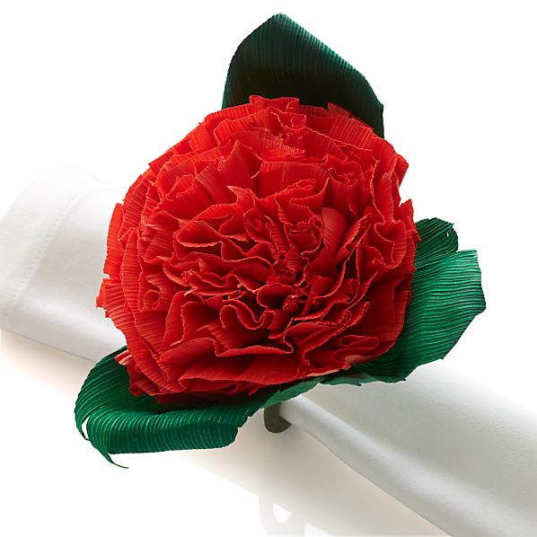 FloresOrangeNapkinRingS14