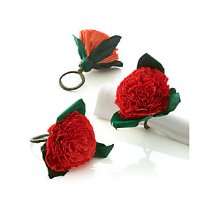 Flores Orange Napkin Ring