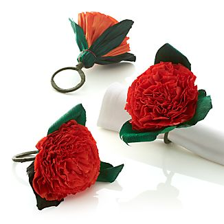 Flores Orange Napkin Ring