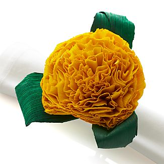 Flores Yellow Napkin Ring