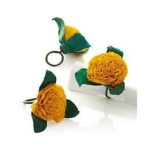 Flores Yellow Napkin Ring