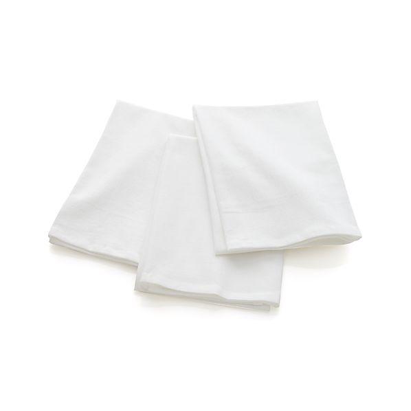 Set of 3 White Flour Sacks