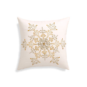"Flurry 18"" Pillow with Down-Alternative Inser"