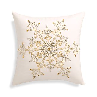 "Flurry 18"" Pillow with Feather-Down Insert"