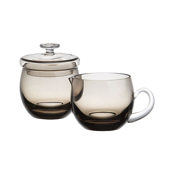 Fog Sugar Bowl with Lid and Creamer