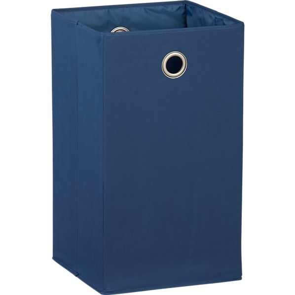 Blue Folding Hamper with Grommet