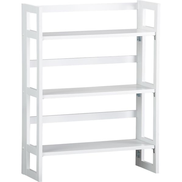 "Folding White 28"" Bookcase"