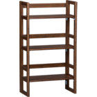 "Walnut 20.75"" Bookcase. 20.75""Wx10.75""Dx37""H"