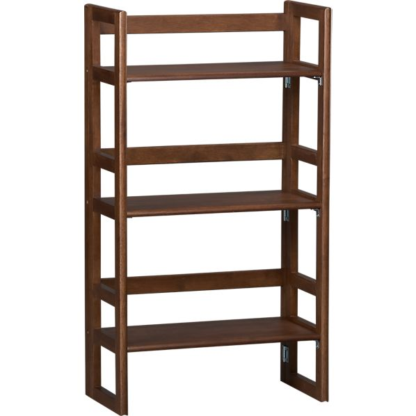 "Folding Walnut 20.75"" Bookcase"