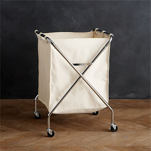 Folding Canvas Hamper