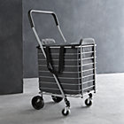 "Polder ® Folding Shopping Cart with Insulated Grey Liner. 15.5""Wx19.75""Dx35.75""H cart, and 13.5""Wx15""Dx15.5""H liner."