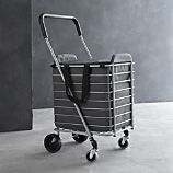 Polder Folding Shopping Cart with Insulated Grey Liner