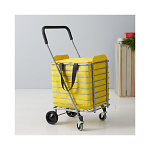 Polder ® Folding Shopping Cart with Insulated Yellow Liner