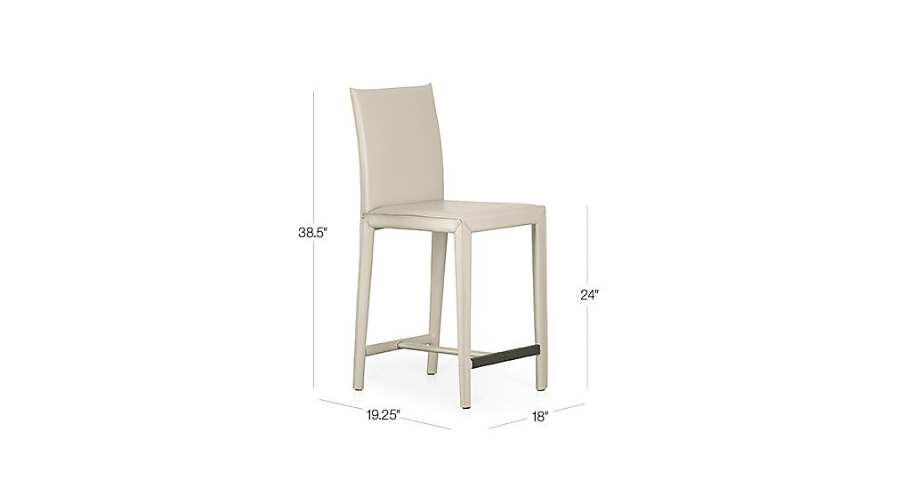 Folio Oyster Bonded Leather Counter Stool Dimensions