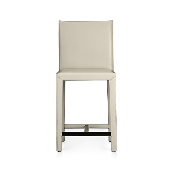 "Folio Oyster Leather 24"" Counter Stool"