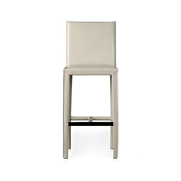 "Folio Oyster Leather 30"" Bar Stool"