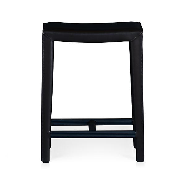 "Folio Bonded Leather 24"" Backless Bar Stool"