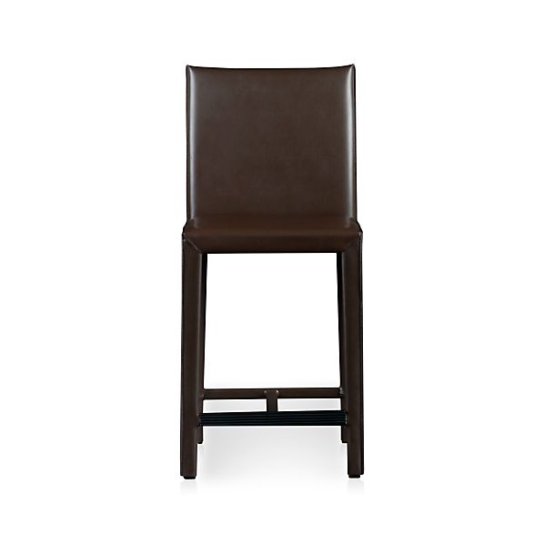 "Folio Chocolate Leather 24"" Counter Stool"