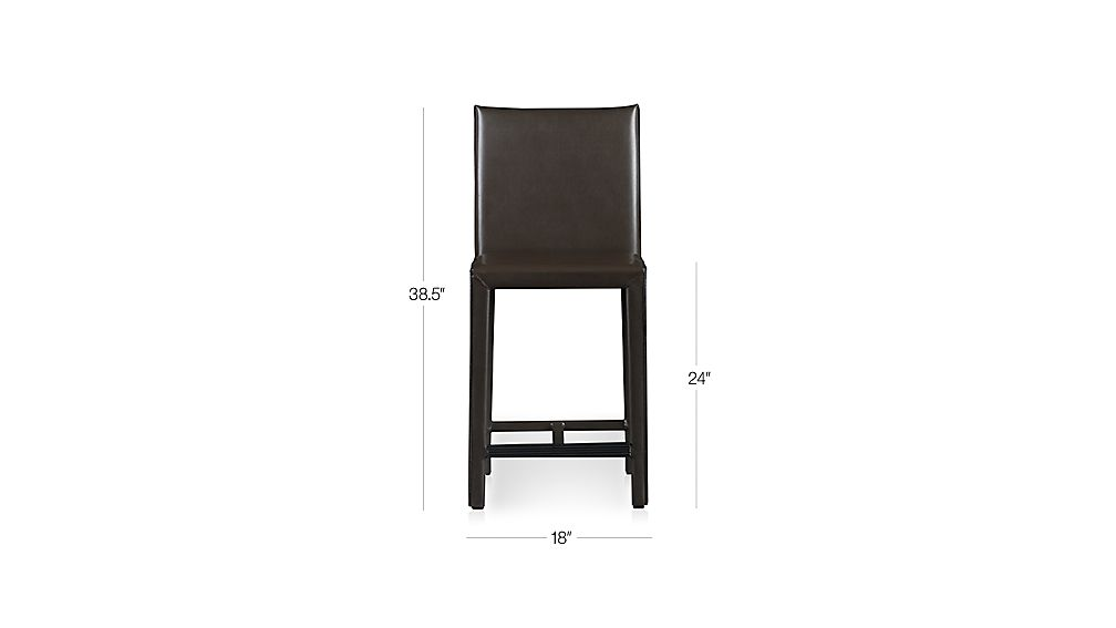 Folio Chocolate Bonded Leather Counter Stool Dimensions