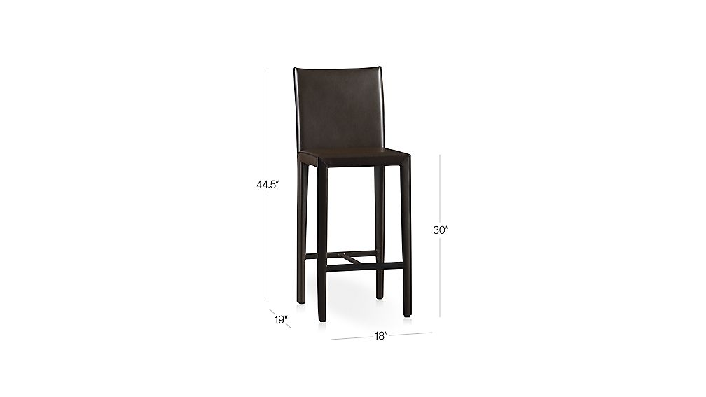 Folio Chocolate Bonded Leather Bar Stool Dimensions