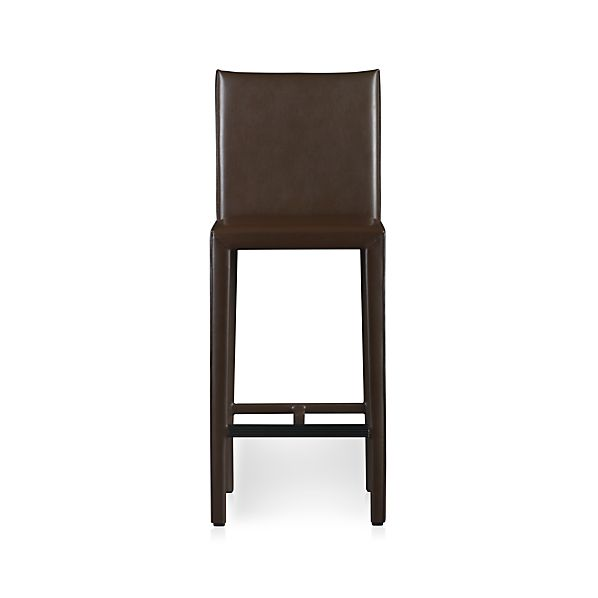 "Folio Chocolate Leather 30"" Barstool"