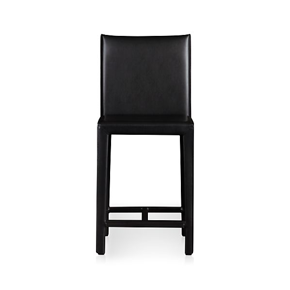 "Folio Ebony Leather 24"" Counter Stool"