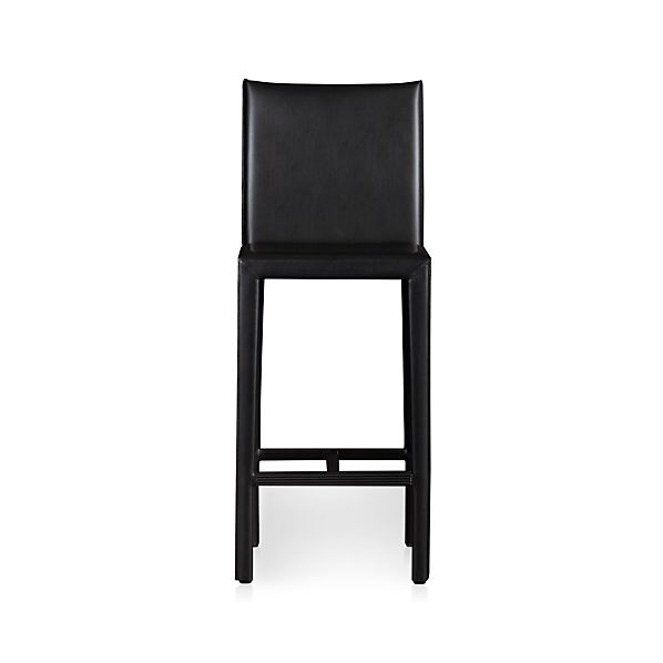 "Folio Ebony Leather 30"" Barstool"